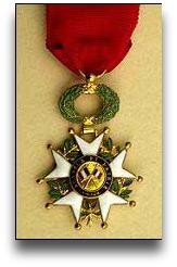 Legion d'Honneur medal.