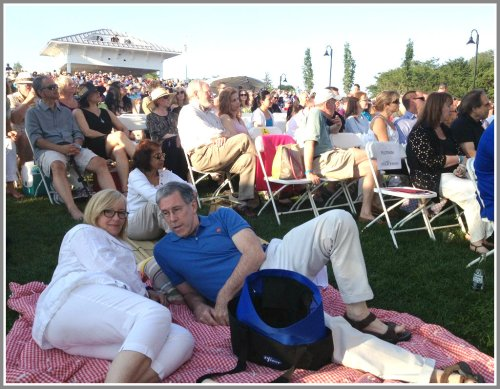 The lawn was full -- but there was plenty of room to relax.