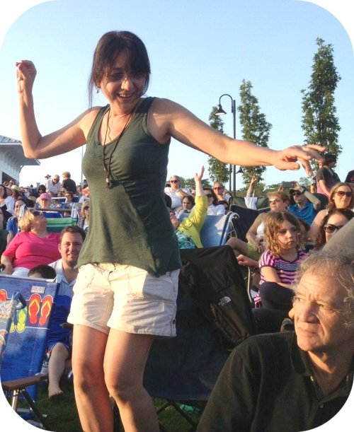 Dancing in the aisle, to Jose Feliciano.
