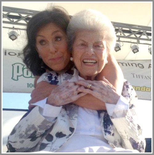 Mimi Levitt -- 93 years young -- and her daughter Liz Levitt Hirsch.