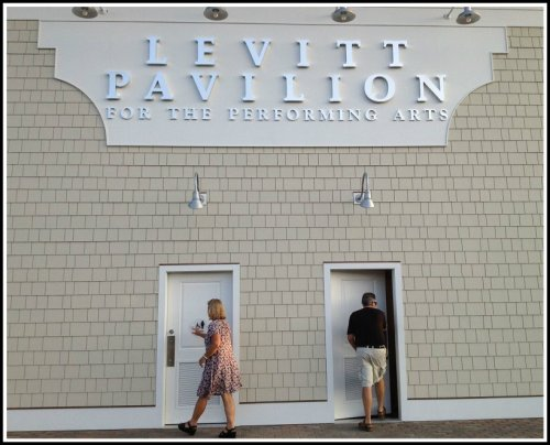 The new Levitt has real restrooms. And they are already in use.