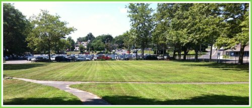 Luciano Park, looking from Railroad Place and Charles Street toward the parking lot. (Photo/JP Vellotti)