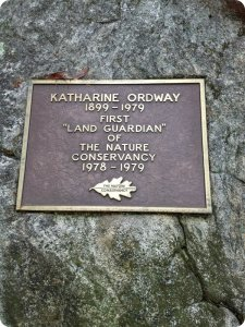 A plaque honors Katharine Ordway.