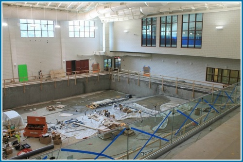 The pool is scheduled to be filled in mid-August.