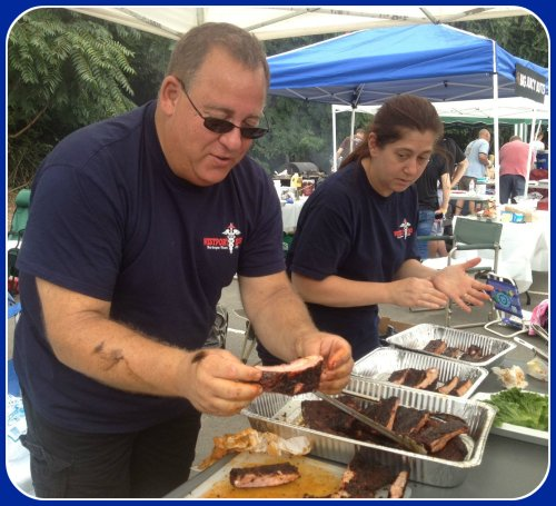Westport's Emergency Medical Services staff participated in last yeear's hotly contested barbecue competition.