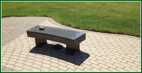 Stone left on the Fairfield County bench. (All photos/Douglass Taft Davidoff)