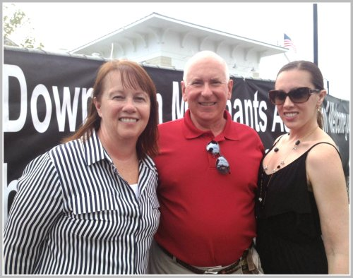 Westport 1st selectman Jim Marpe was at the Blues, Views & BBQ Festival, with his wife Mary Ellen and daughter Samantha.