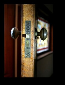 An old door and lock, in the Kemper-Gunn house. (Photo/Wendy Crowther)