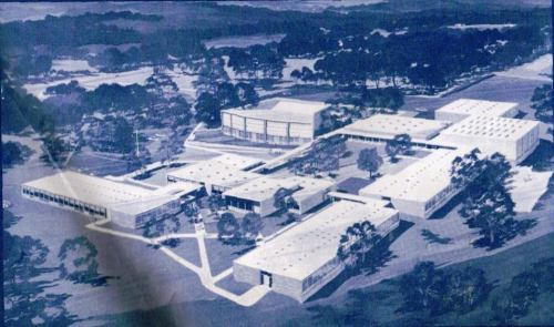 The 1st version of the North Avenue campus: 6 separate buildings.