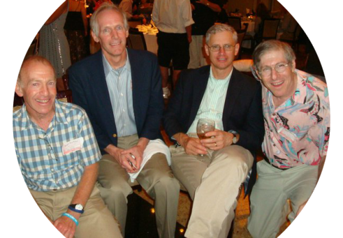 At the Staples reunion 3 years ago, I had a great time with old friends. From left: myself, Jim Conant, Steve McCoy and Fred Cantor.