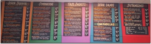 Senor Salsa menu