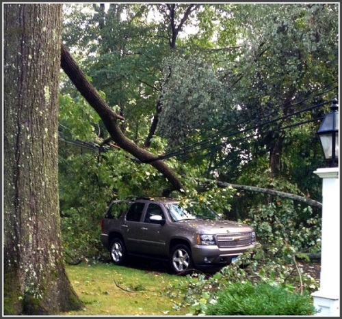 September 6 2014 storm - Dale Najarian car