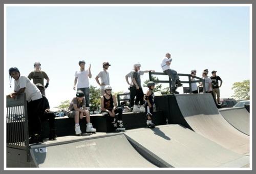 The Compo Beach skate park draws quite a mixed crowd.