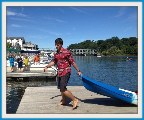 Downunder was busy all day, offering kayak and paddleboard rides. Nearby, boat owners tied up at the dock.