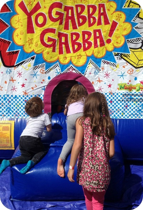 What's a street festival without a bounce house? This one was in the Rizzuto's parking lot.