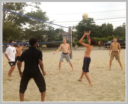 Afterward, players from both teams mixed and matched for an impromptu volleyball tournament.