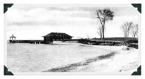 ...of the old pavilion at Schlaet's Point, just around the curve closer to Soundview Drive.