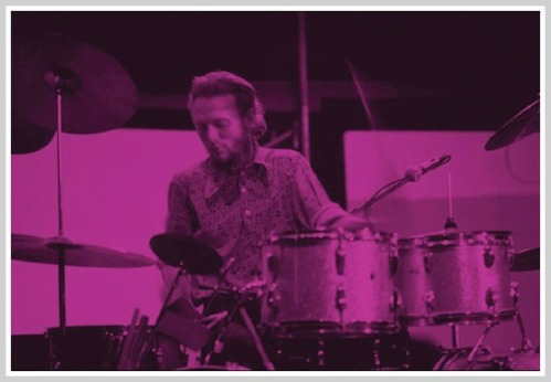 Ginger Baker, Cream's drummer, at Staples in 1968. (Photo copyright Jeremy Ross)
