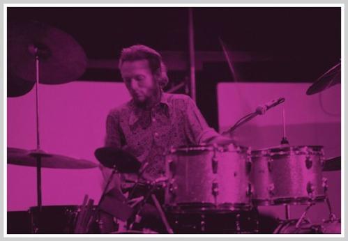 Ginger Baker, Cream's drummer, at Staples. (Photo copyright Jeremy Ross)