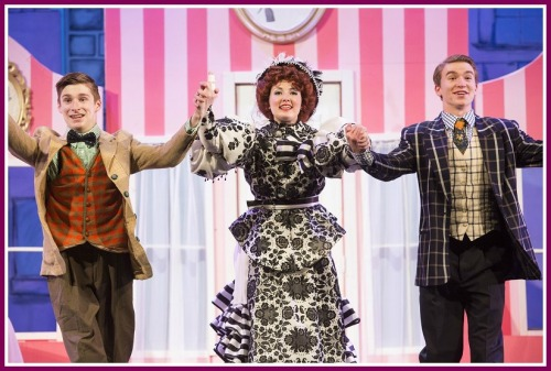 "Costumes and sets complement Jack Bowman, Claire Smith and Jack Baylis as they sing ""Dancing."" (Photo/Kerry Long)"