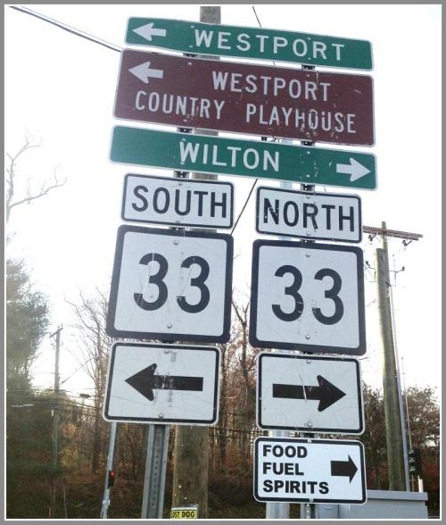 Merritt Parkway sign