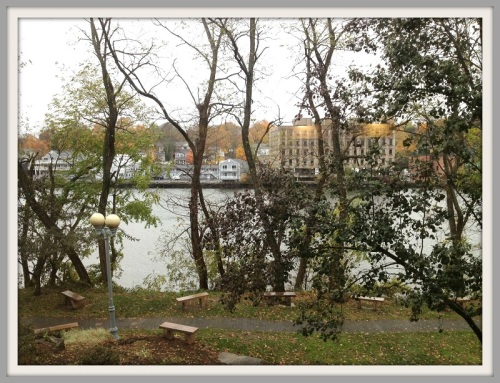 Saugatuck River from library
