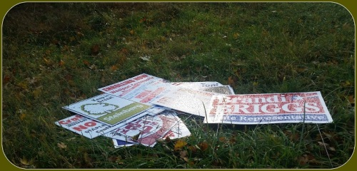 Signs dumped