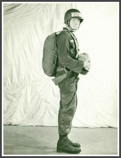 Tom Feeley at Fort Benning Airborne School, 1962.