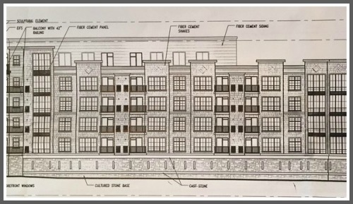 A drawing of the proposed apartment complex, as seen on Change.org.