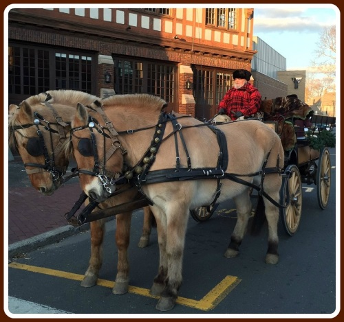 Horse-drawn carriages clomped throughout downtown. For more modern transportation, buses run between Jesup Green and Saugatuck Elementary School through 9 p.m.