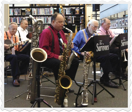 The Survivors Swing Band kicked things off at the library. (Photo/Fred Cantor)