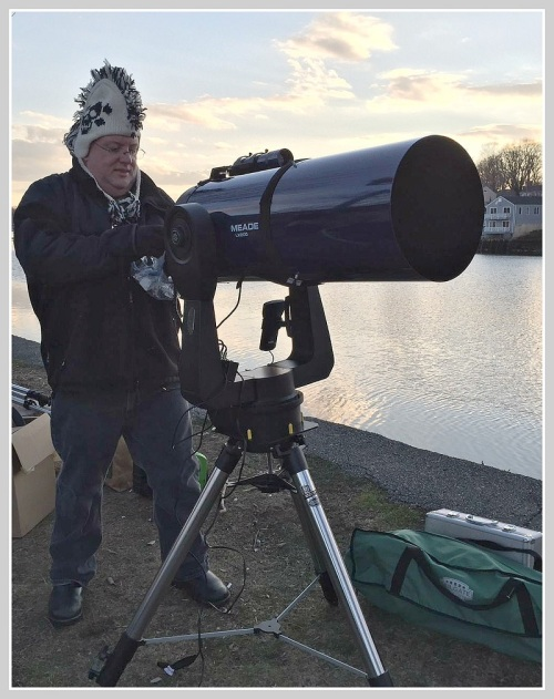 The Westport Astronomical Society hauled out some serious telescopes. The view is better now that the sun has set.