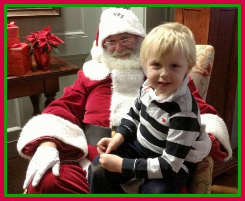Santa was part of the Downtown Merchants Association holiday party, earlier this month.