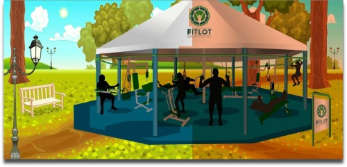 A roof may be necessary for a Westport outdoor fitness park.