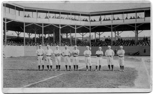 The Philadelphia Quakers  in 1884. Hezekiah Allen is probably not in this photo.