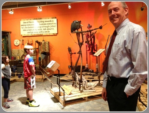 """Steve Baumann at the """"Sprockets"""" exhibit. He wants to take the engagement process a few steps further."""
