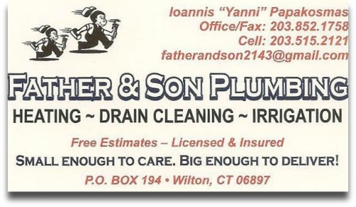 Father and son plumbing
