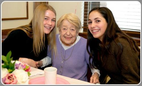 Jo Woog -- my mother -- with girlfriends Lauren Stack and Sophie Epstein. (Photo/Susan Woog Wagner)