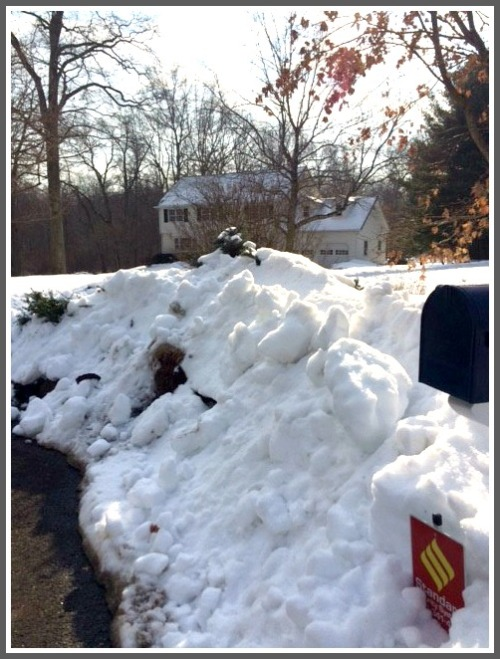 The snow AFTER it was removed by a Public Works crew. The pile once stood 8 feet tall.
