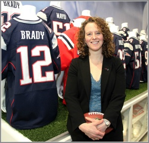 Jessica Gelman, at work. (Photo/Sports Business Journal)