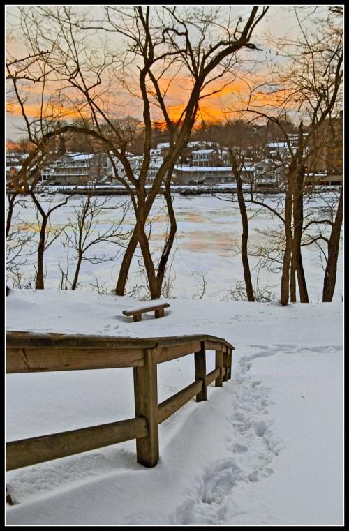 Library handrail - Lynn U Miller