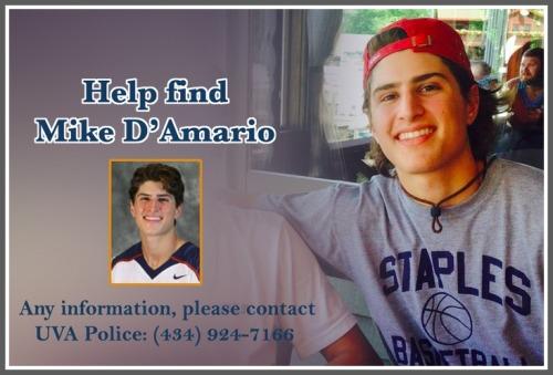 Mike D'Amario missing