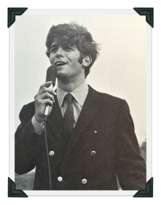 Paul Emmett, as MC of the 1969 Homecoming festivities.