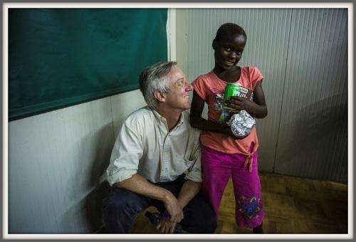 A 10-year-old survivor, and Tony Banbury.