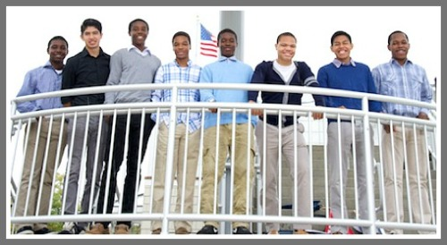 The 2014-15 A Better Chance scholars. Luis Cruz is 2nd from right.