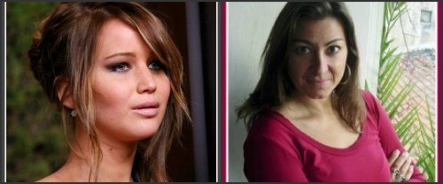 Separated at birth? Jennifer Lawrence and Lysney Addario.