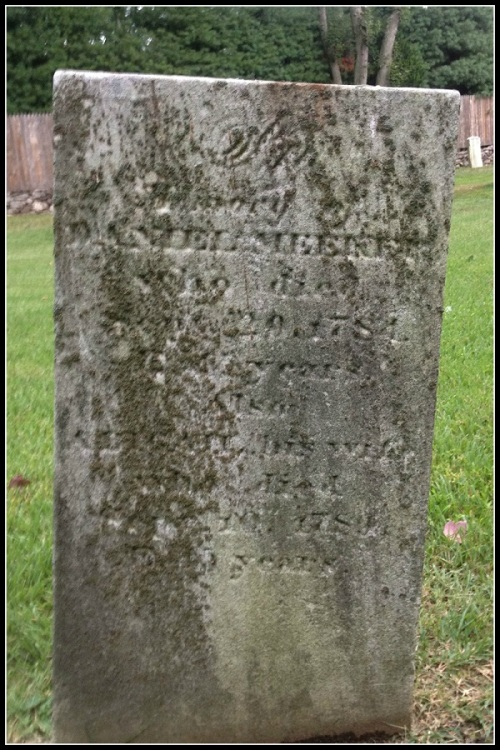 Daniel Meeker died in 1784. His wife Abigail (Gorham) died 5 years later. They are buried in the cemetery bordered by Greens Farms Road and the Sherwood Island Connector. Daniel's brother Benjamin outlived him by 33 years. He married another Abigail (Burr). This photo -- and information about the Meekers, and the house -- comes from current owner Wendy Van Wie, Mark Yurkiw's wife. She is a law professor and historian.