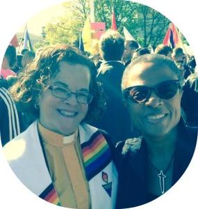 Rev. Debra Haffner and Rev. Yvette Flunder, founder of a multi-denominational fellowship of 56 primarily African American churches.
