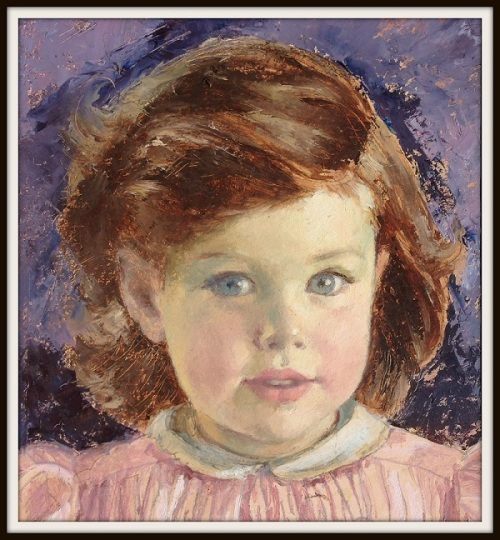 Not the Gerber baby -- but one of Dorothy Hope Smith's many child portraits. Perhaps the subject was a Westport girl.