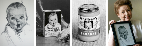 The Gerber baby at work -- and all grown up today.